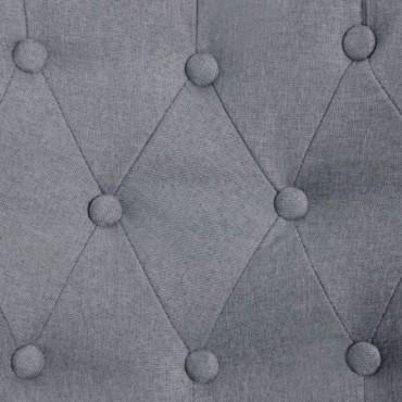 Fauteuil crapaud Gris clair en tissu
