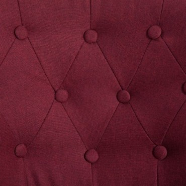 Fauteuil crapaud Rouge bordeaux en tissu