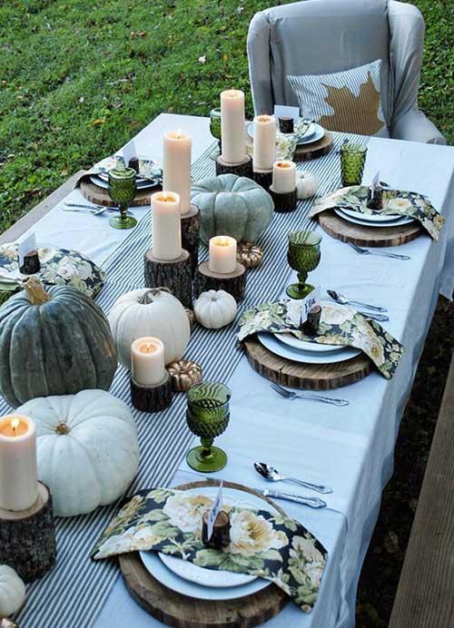 decoration automne citrouille
