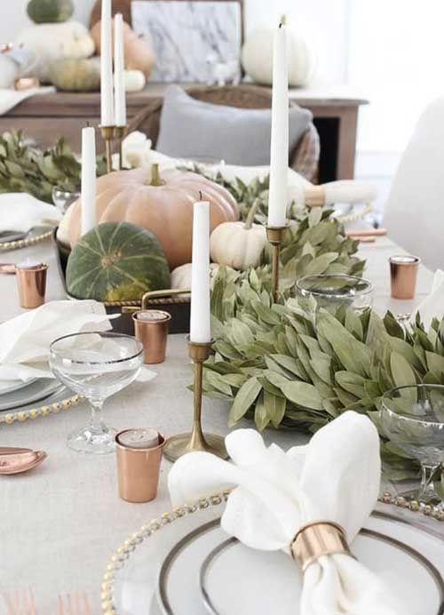 decoration automne table