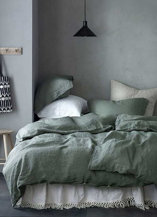 chambre couette green