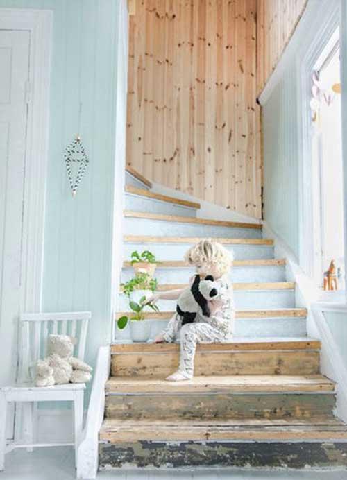 escalier peinture mint
