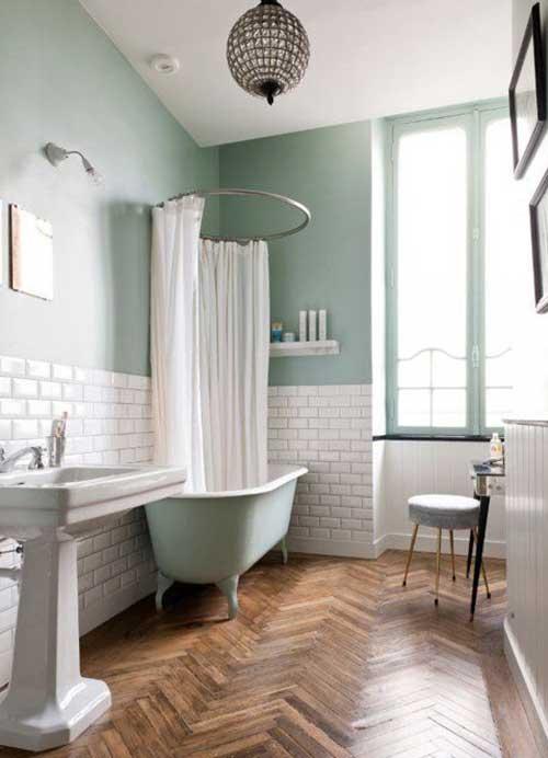 salle de bain couleur mint