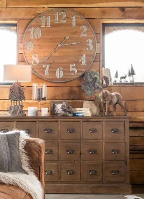 horloge deco rustique